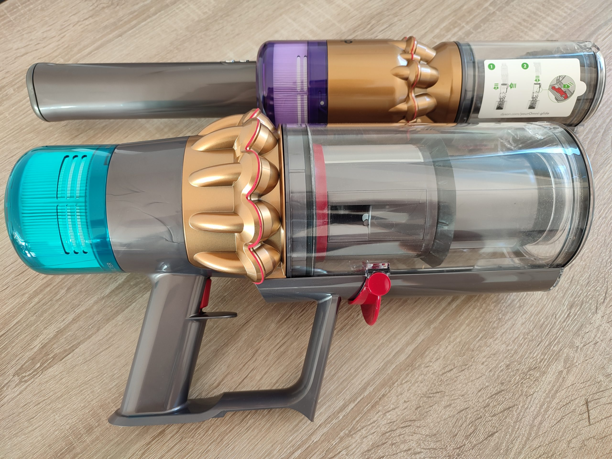 Dyson Omni-Glide Akkusauger Vergleich Dyson V15 Detect Complete Hauptelemente