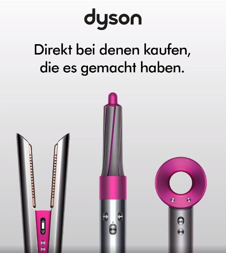 Dyson TV-Spot Werbung im Dyson-Shop kaufen