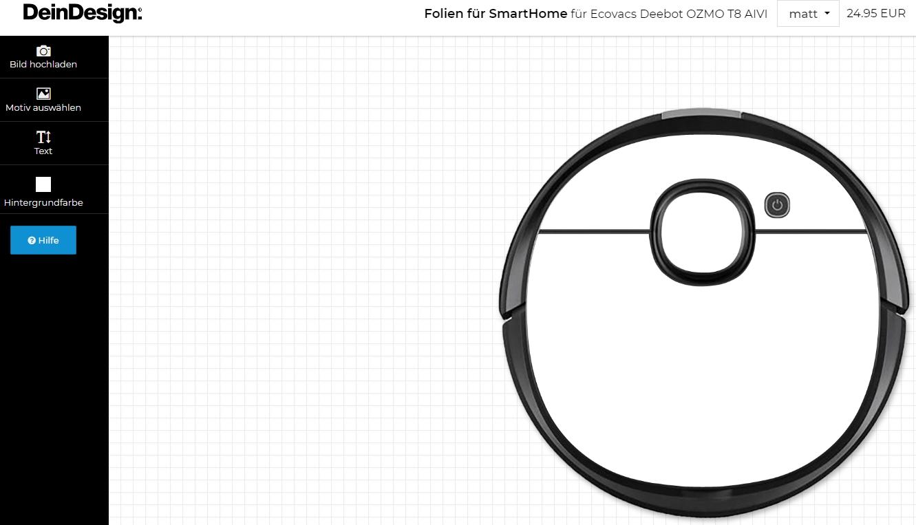 Saugroboter Sticker Ecovacs Deebot Ozmo T8 AIVI Folien selbst gestalten