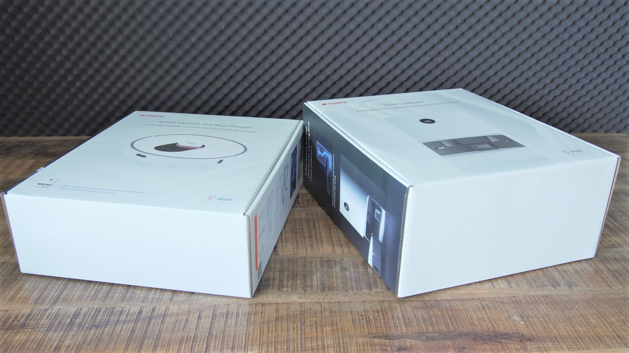 Roidmi EVE Plus Saugroboter zwei Pakete Kartons