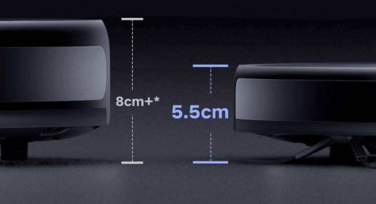 Xiaomi Mijia Ultra Thin Saugroboter Hoehe Maße Vergleich