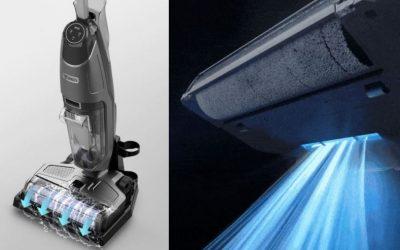 360 F100 Wisch-Akkusauger arbeitet mit UV-Licht und auf Teppichen