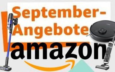 Amazon September Angebote: Die besten Deals für Saugroboter, Akkusauger & Mähroboter
