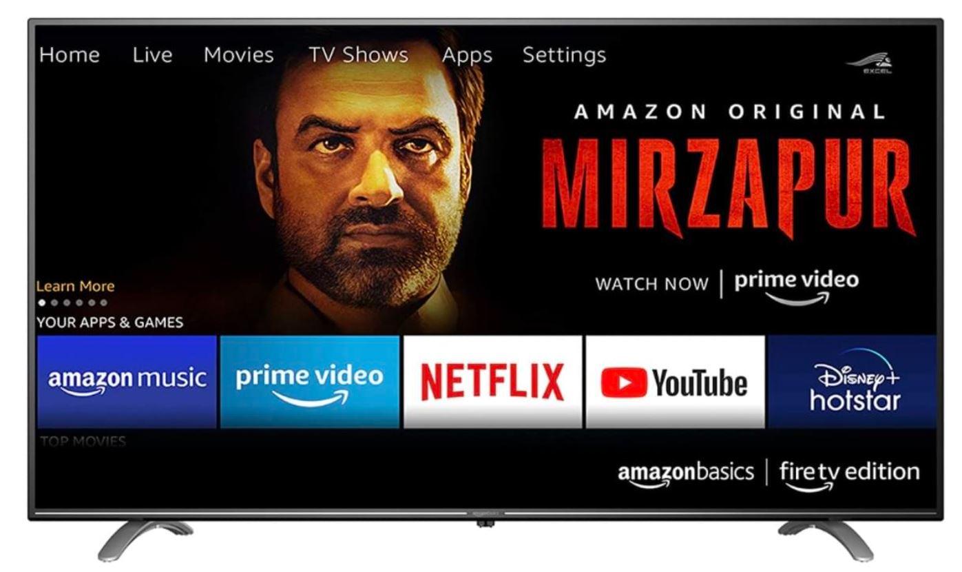 Amazon TV Fernseher Amazonbasics Indien Design