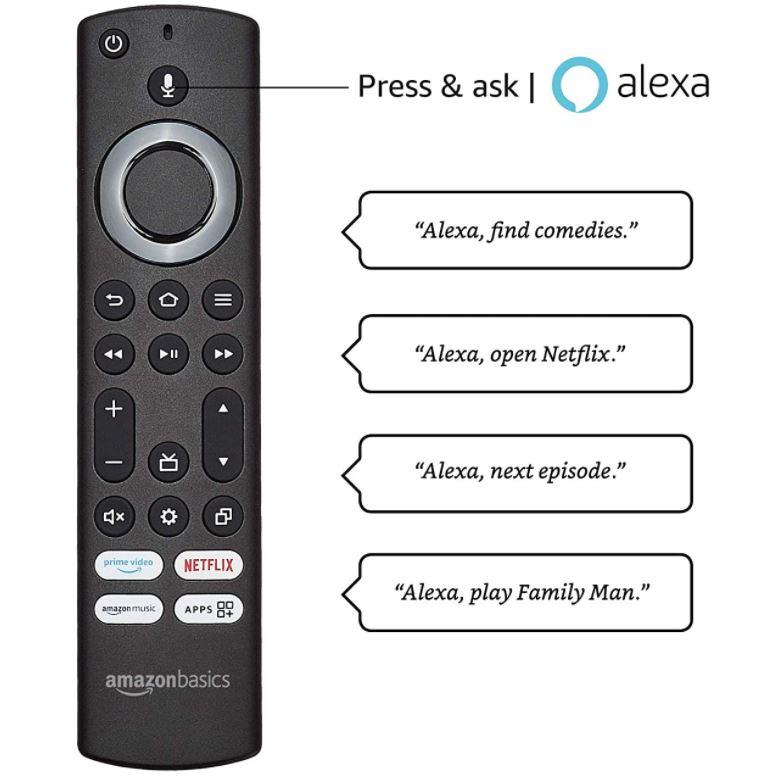 Amazon TV Fernseher Amazonbasics Indien Fernbedienung