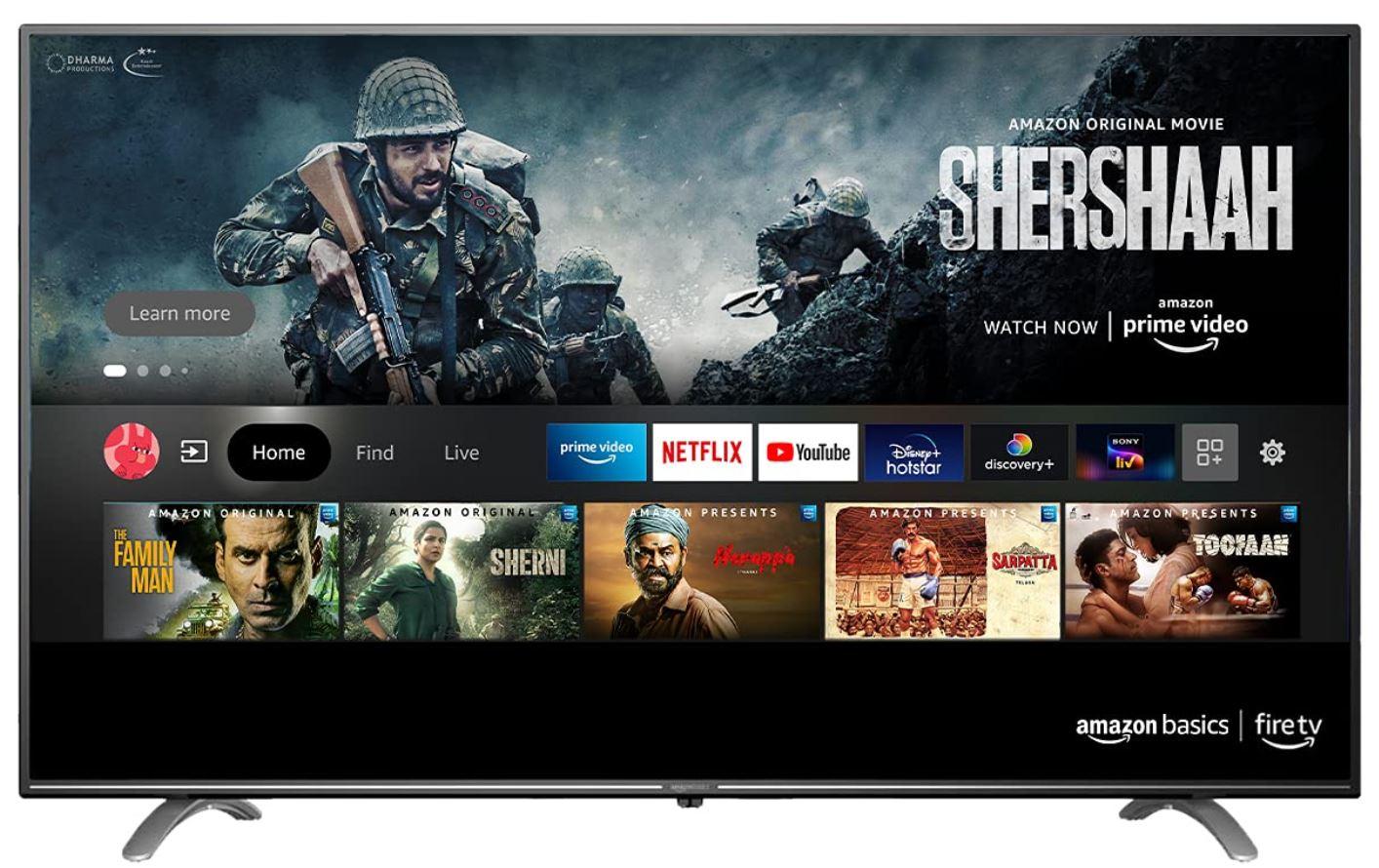 Amazon TV Fernseher Amazonbasics Indien