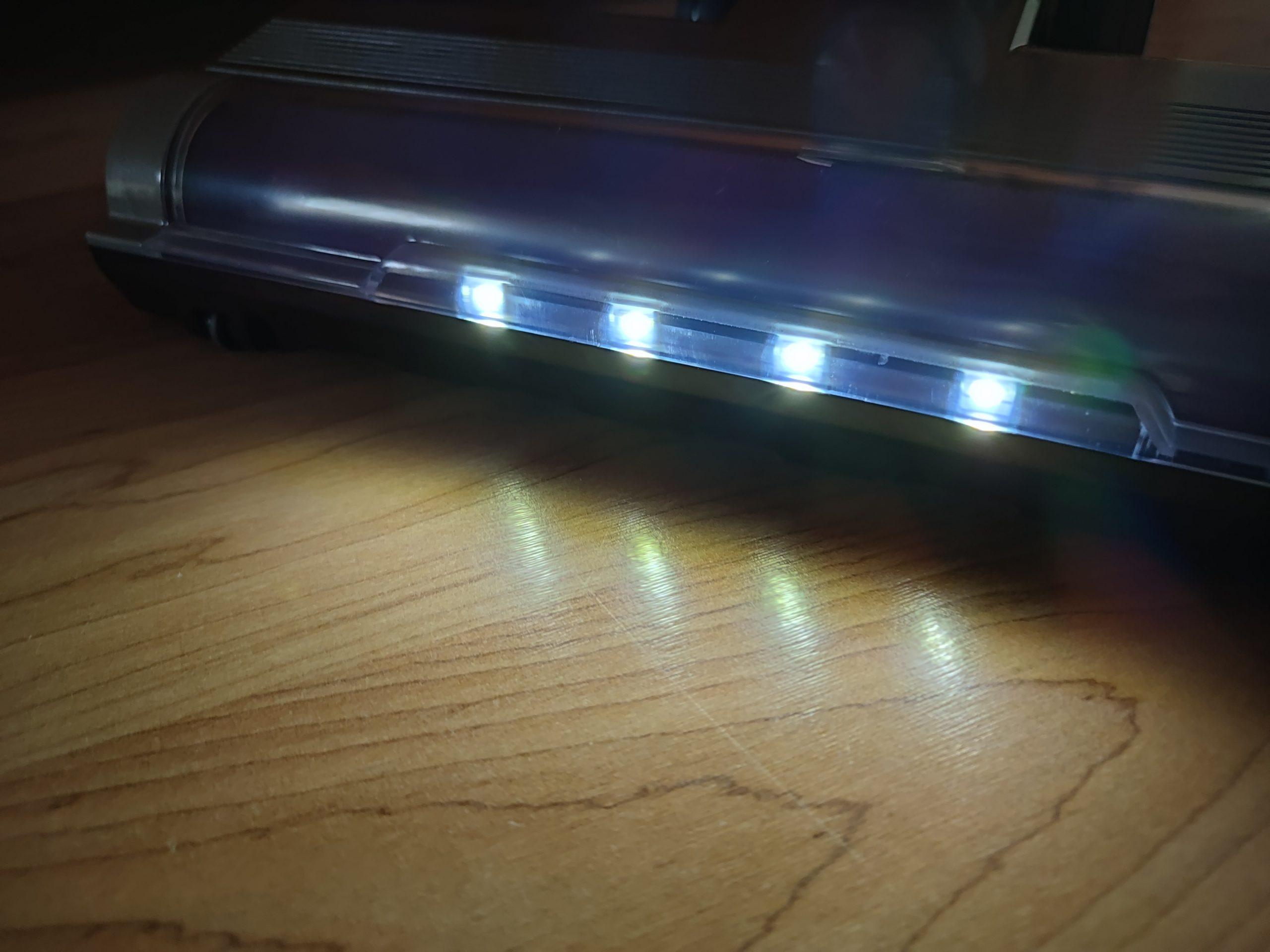 Laresar Elite 1 Akkusauger LED-Leuchten Bodenduese Licht