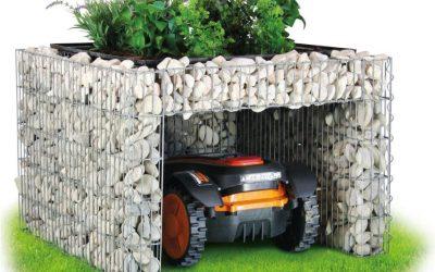 Mähroboter-Garagen und -Carports: Regenschutz für den Rasenmäher