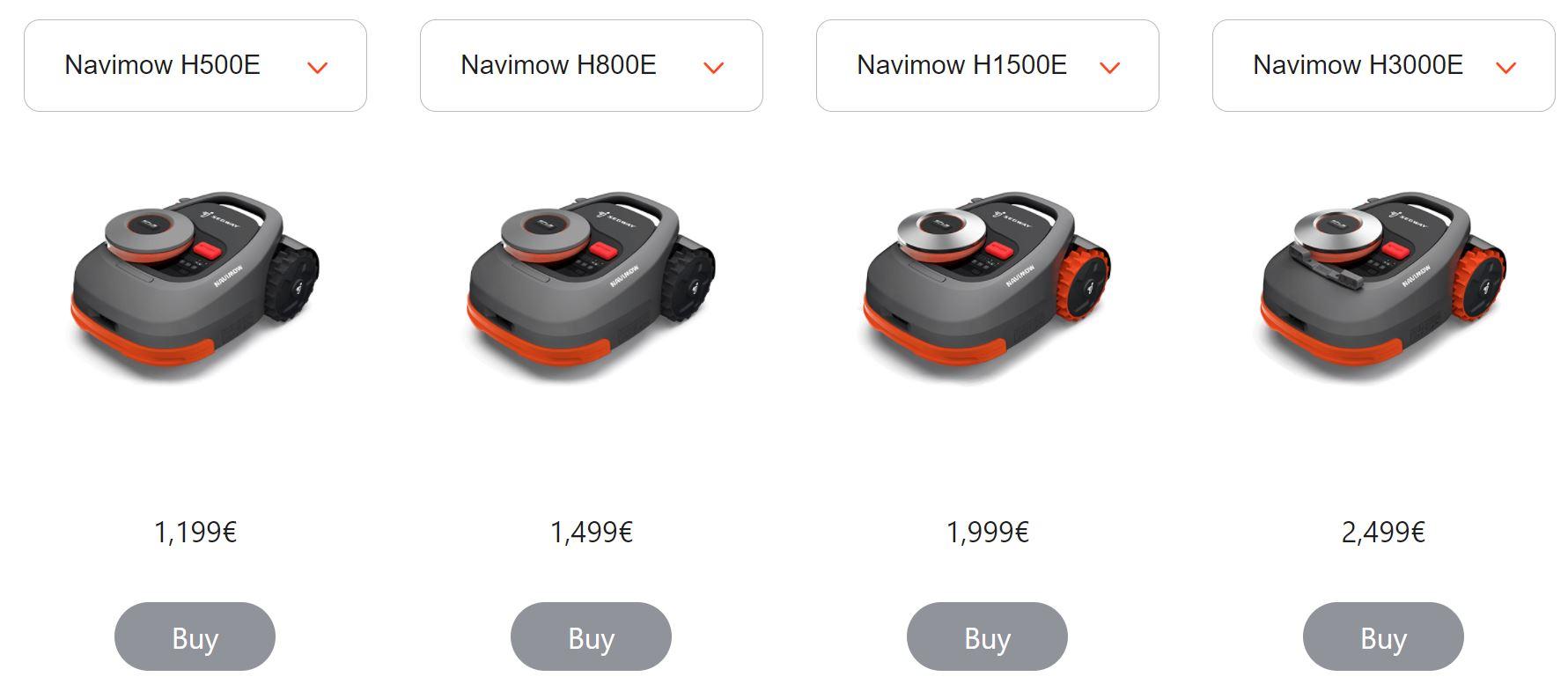 Segway Navimow Mähroboter Modelle