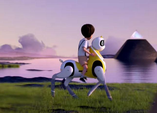 XPENG Unicorn Einhorn laufender Roboter Reiten