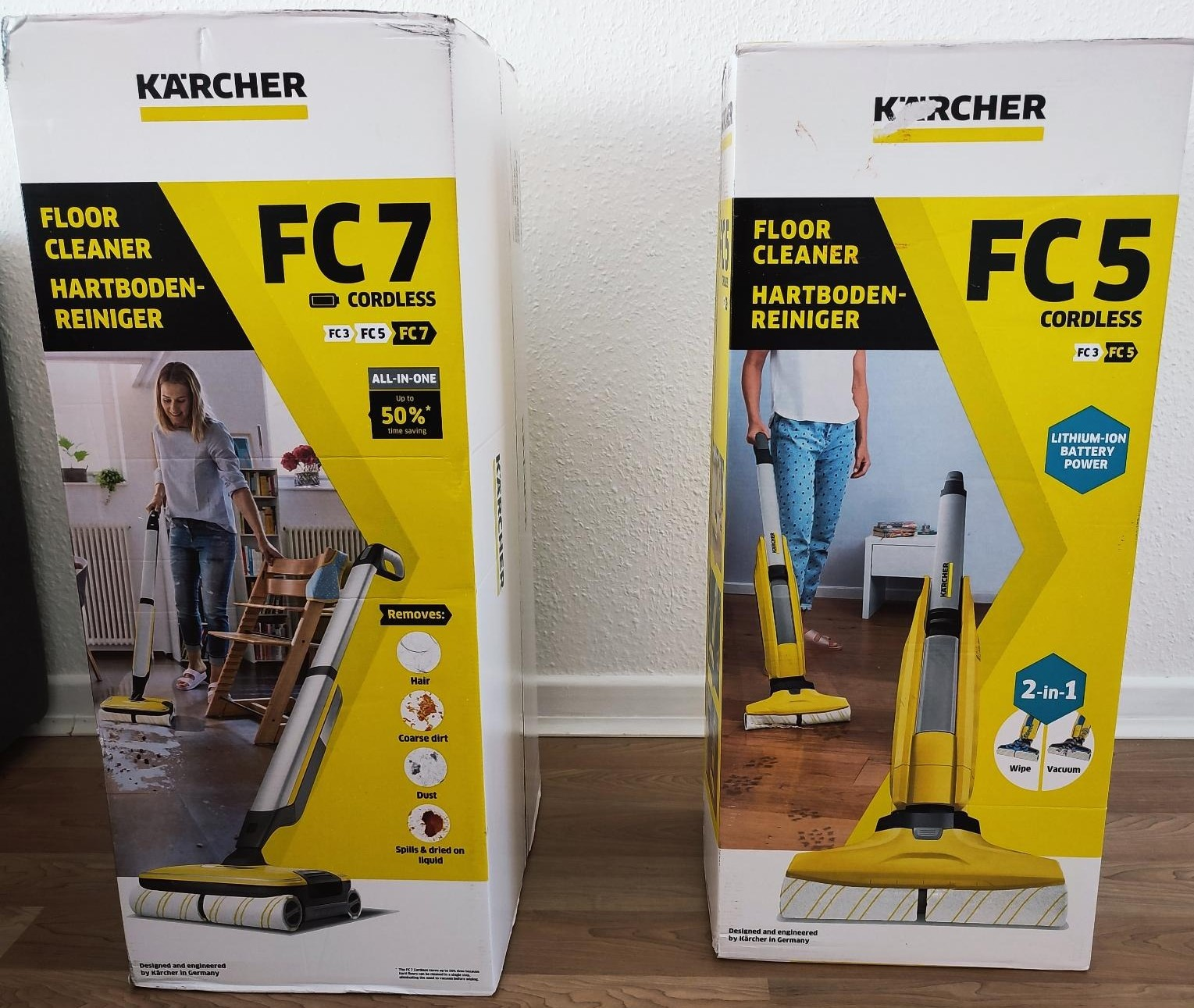 Kärcher FC7 Cordless Hartbodenreiniger Vergleich FC5 Vorgänger